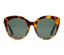 Sonnenbrille aus Azetat mit speziell geformtem rundem Rahmen