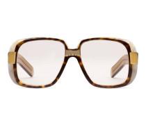 Extragroße Brille mit rundem Rahmen aus Acetat