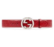 Gürtel aus Gucci Signature Leder und mit GG Schnalle