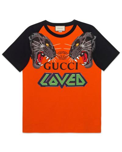 Übergroßes T-Shirt mit Tigern