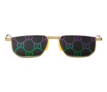Sonnenbrille mit rechteckigem Metallrahmen