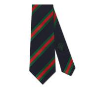 Krawatte aus Seide und Baumwolle mit Regimentsstreifen