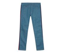 Schmale Jeans mit Webdetail