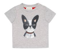 Baby T-Shirt aus Baumwolle mit Hunde-Print