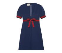Kleid aus Jersey mit Web mit V-Ausschnitt
