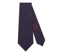Krawatte aus Seide mit Blume unter dem Knoten