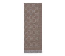 Schal aus Strick mit GG Jacquard Muster
