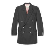 Zweireihige Jacke aus Wolle