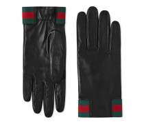 Handschuhe aus Leder mit Web