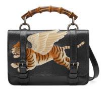 Gürteltasche aus Leder mit Tiger