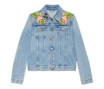 Jacke aus Jeansstoff mit Stickerei
