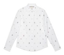 Duke Hemd aus Oxford-Baumwolle mit Symbole-Motiv