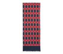 Schal aus Seide mit Gucci Rhombus-Print