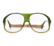 Brille mit rundem Rahmen aus Acetat mit Gummiband