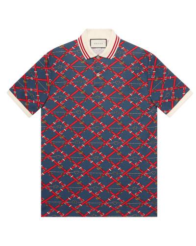 Übergroßes Polo-Shirt mit Print