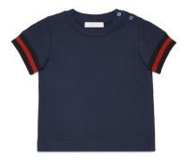 Baby T-Shirt aus Baumwolle mit Webstreifen