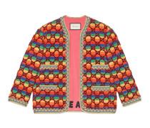 Jacke aus GG Samt mit Regenbogen-Motiv