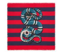 Halstuch aus Seide mit Kingsnake-Print