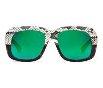 Sonnenbrille mit quadratischem Rahmen aus Ayers