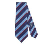 Krawatte aus gestreifter Wolle und Seide