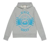 Übergroßes Sweatshirt mit Schallplatten-Print