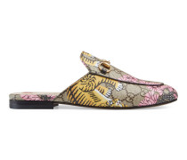 Princetown Slipper mit Gucci Bengal-Print