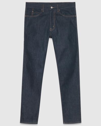 gucci herren dunkelblaue enge jeans reduziert. Black Bedroom Furniture Sets. Home Design Ideas