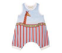 Baby Schlafanzug aus Baumwolle mit Giraffen-Print