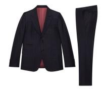 New Marseille Anzug aus karierter Wolle