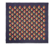 Halstuch aus Seide und Modal mit GG Wallpaper-Print