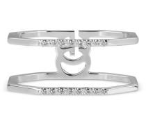 Ring aus Weißgold und Diamant