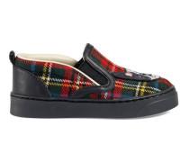Slip-on-Sneaker mit Schottenkaro