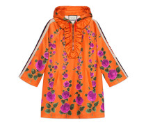 Kleid aus Jersey mit Rosengarten-Print mit Kapuze