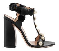 Sandale aus Leder mit T-Riemchen