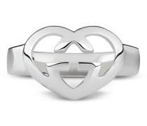 Herzförmiger Ring mit GG