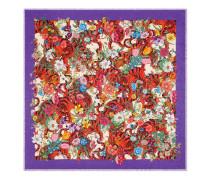 Halstuch aus Baumwolle mit Flora Tiger-Print