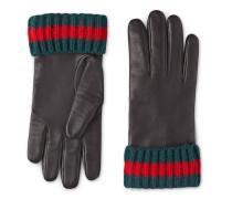 Handschuhe aus Leder und Kaschmir