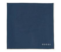 Feste Pochette mit Gucci Logo
