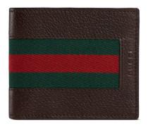 Brieftasche aus Leder mit Webstreifen