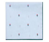 Einstecktuch aus Baumwolle mit Blumen