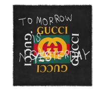 Halstuch aus Modal und Seide mit Gucci Coco Capitan-Logo