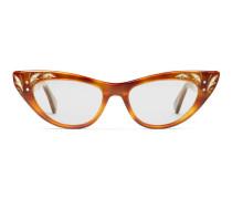 Brille in Katzenaugenform