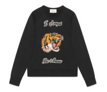 Pullover aus Baumwolle mit Tiger
