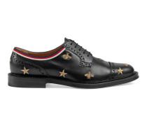 Brogue-Schuh aus Leder mit Stickerei