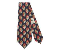Krawatte aus Seide mit GG Wallpaper-Motiv