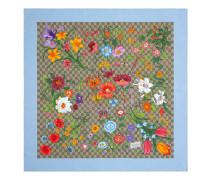 GG Halstuch aus Seide mit Flora-Print