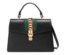 Sylvie leather top handle bag