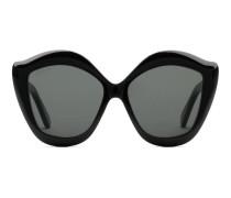 Katzenaugen-Sonnenbrille aus Azetat