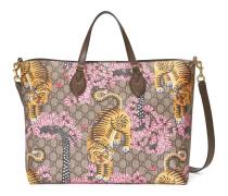 Weicher Shopper mit GG und Gucci Bengal-Print