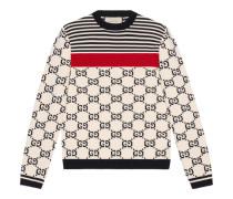 Pullover aus Baumwolle mit GG Intarsie